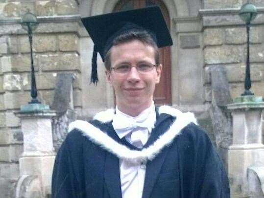 James on his graduation day at Oxford University