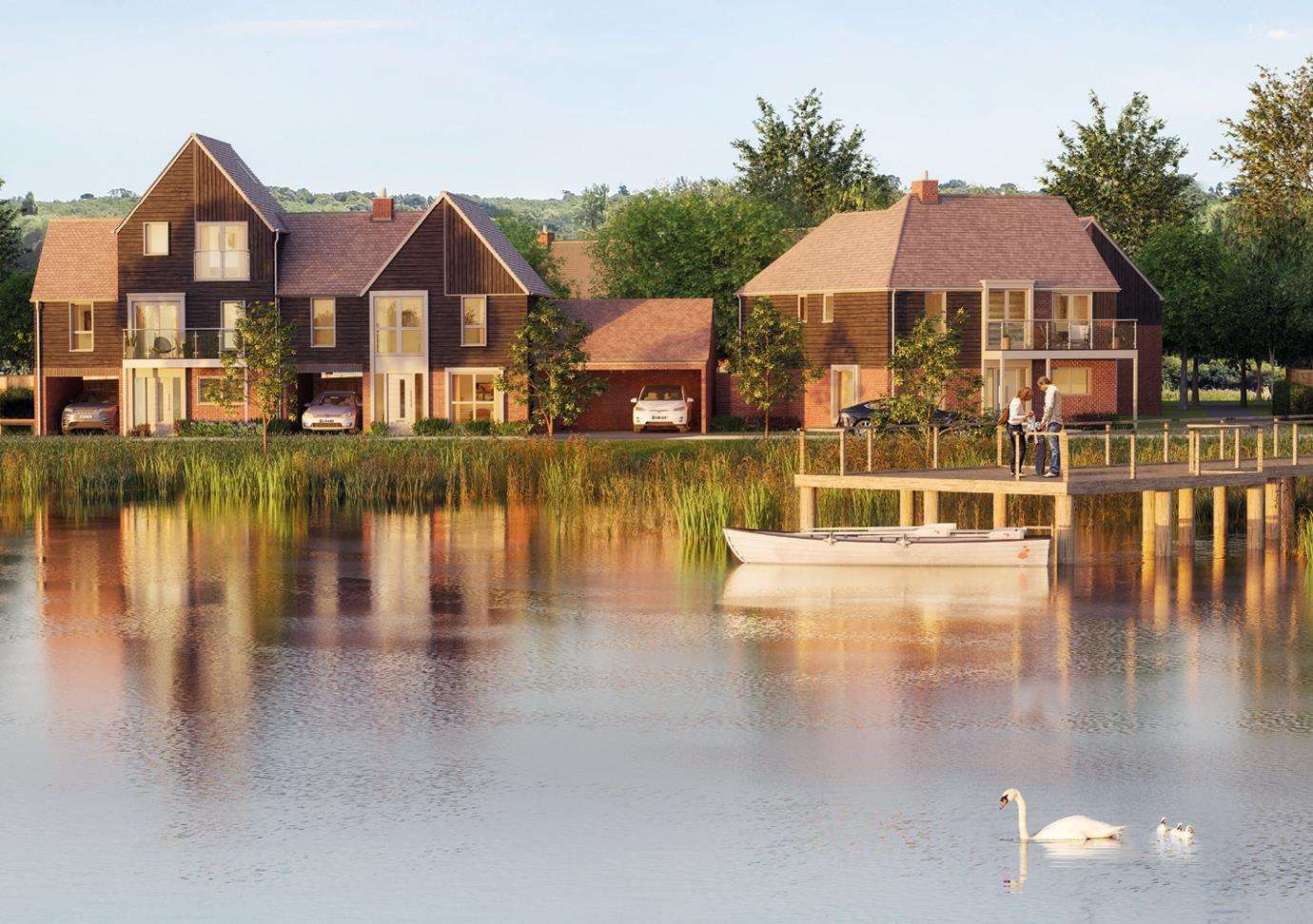 Homes around Conningbrook Lakes are already being built