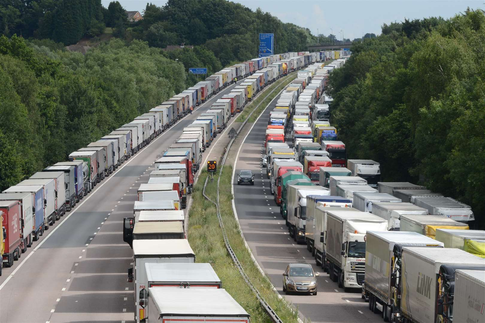 Operation Stack between Junction 9 and 10 of the M20. Library image.