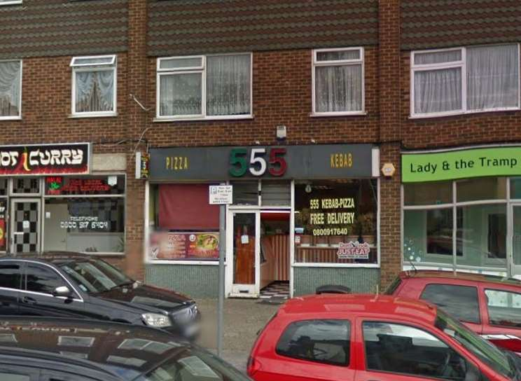 The 555 takeaway in Ramsgate. Picture: Google.