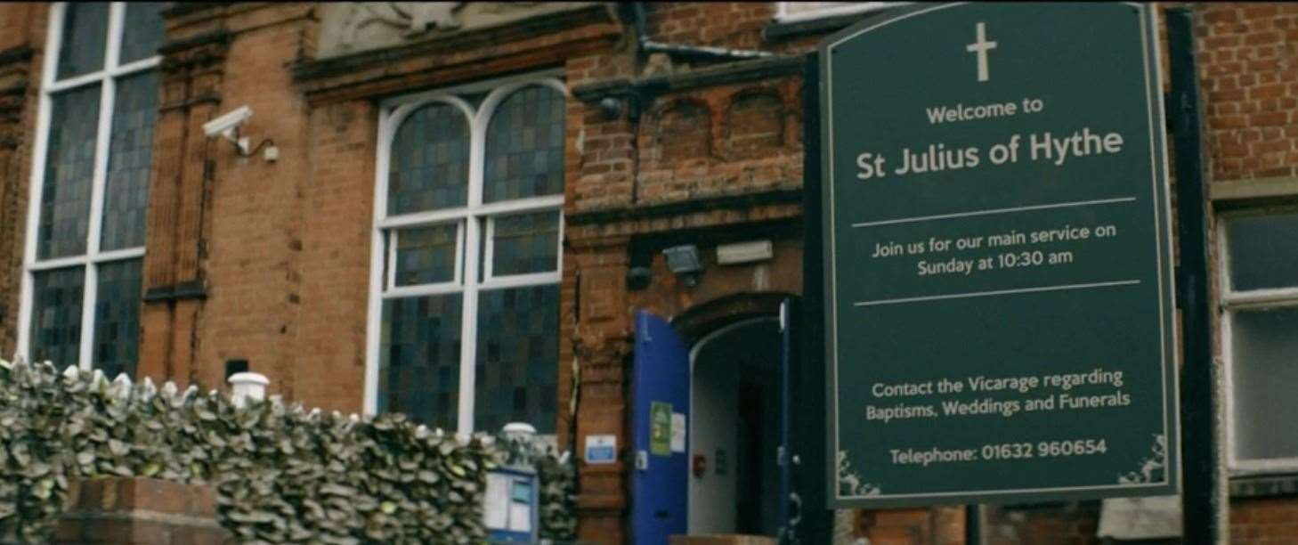 St Julius of Hythe serves as the meeting point in the series.  Photo: BBC iPlayer