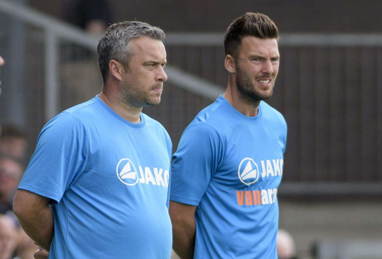 Dartford joint-managers Adam Flanagan and Jamie Coyle Picture: Andy Payton