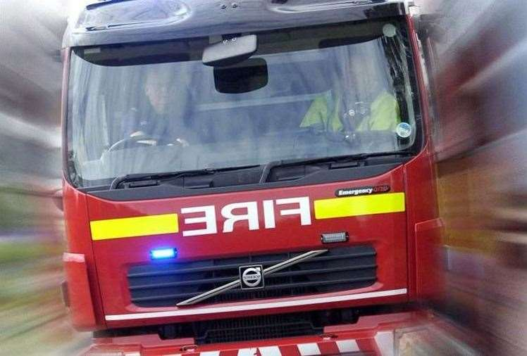 Fire crews were called to the fire in the early hours