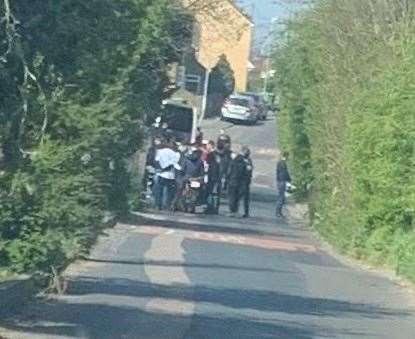 The mass gathering was reported at Tonge Road, Murston