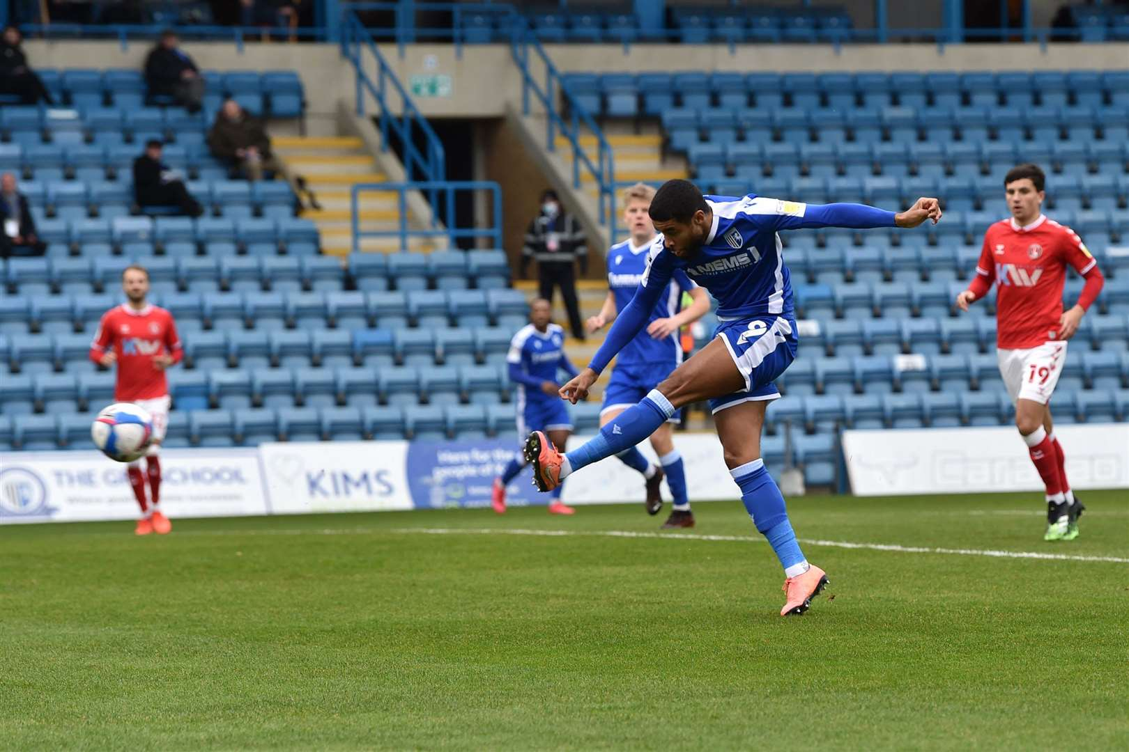Dominic Samuel fires wide for the Gills Picture: Keith Gillard (43223279)
