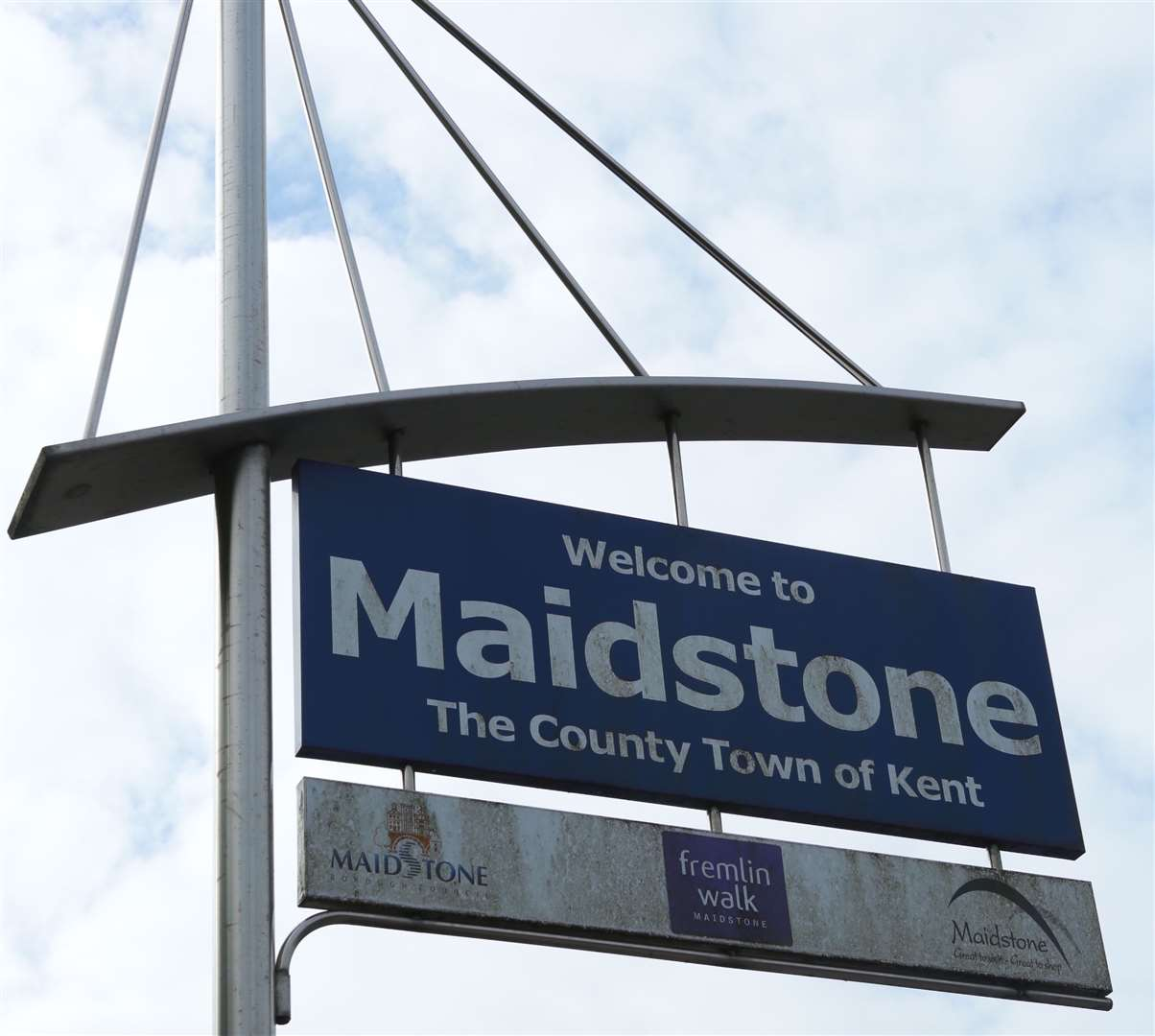 Welcome to Maidstone sign in London Road. Picture: Martin Apps