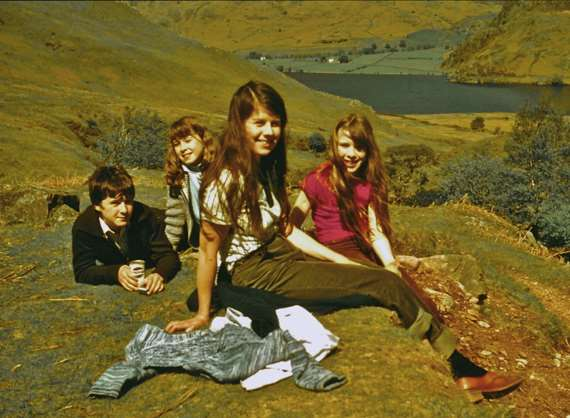 Geoffrey Farmer (brother), Jane (sister), Susan (mother) and Rebecca when she was about ten