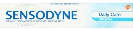 Sensodyne toothpaste also has less in a tube