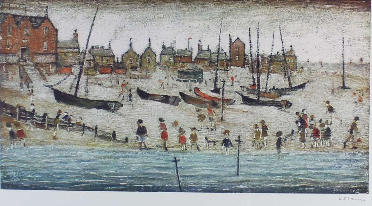 Lowry's painting and original drawing of Deal will be on sale
