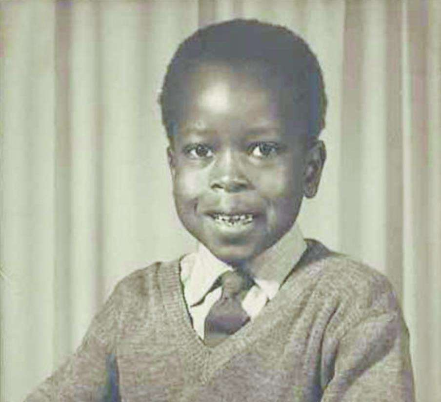 The young Michael at Alderbrook Primary School in London in 1964