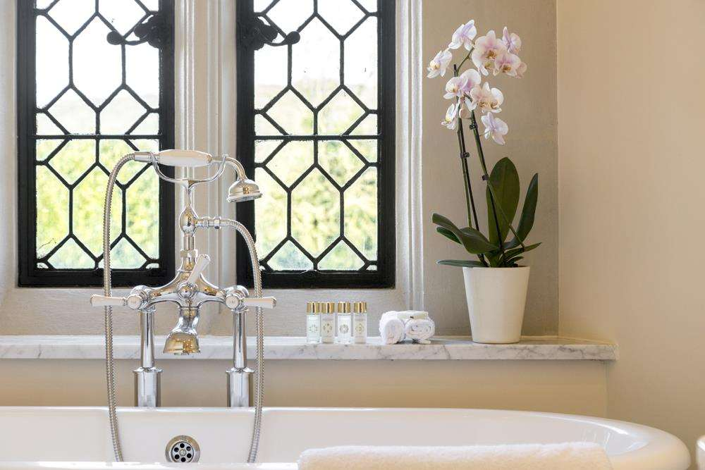 A sumptuous bathroom at Eastwell Manor Picture: Steve Lancefield