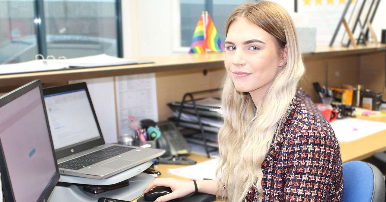 Alice Payne - one of our business administration apprentices