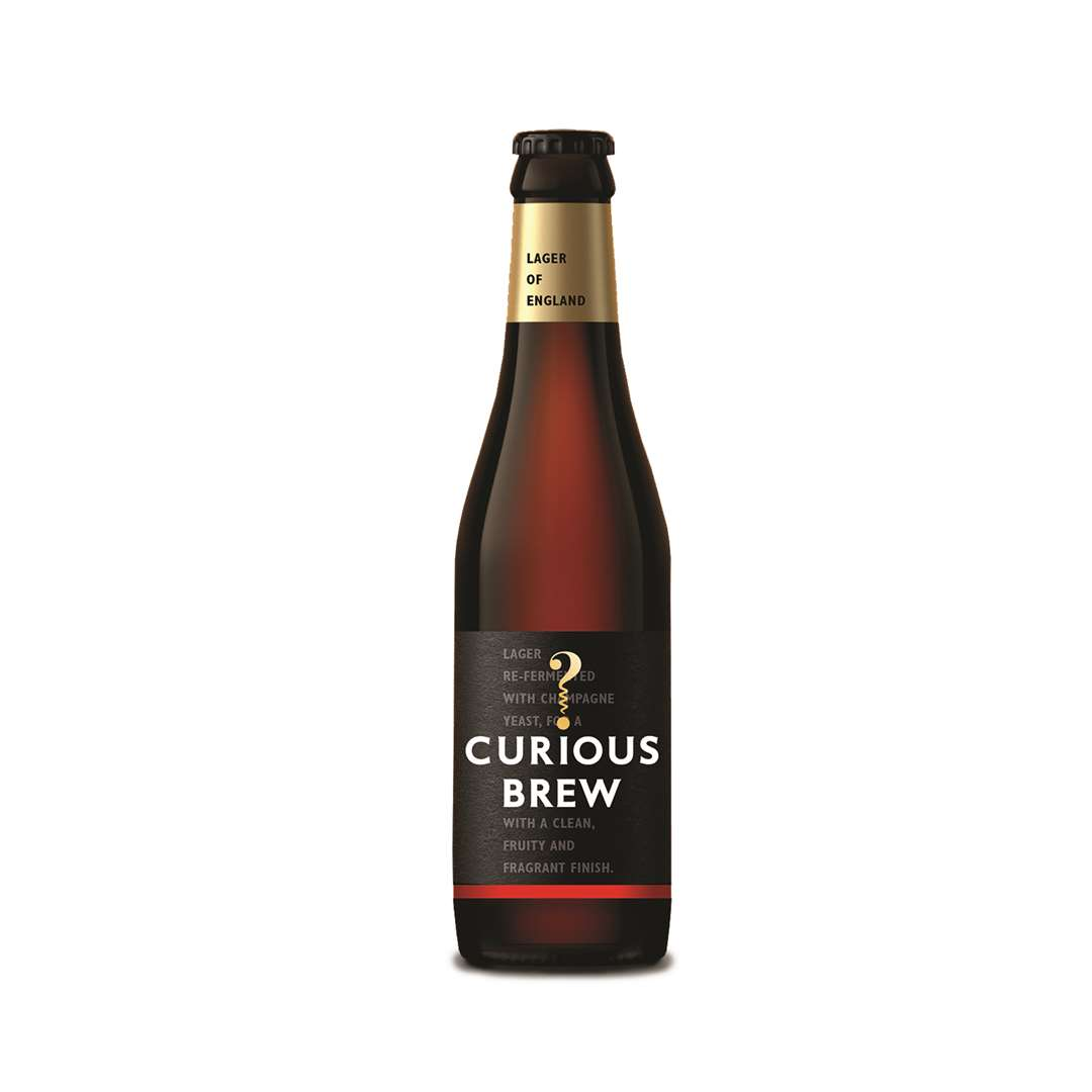 The newly designed Curious Brew bottle