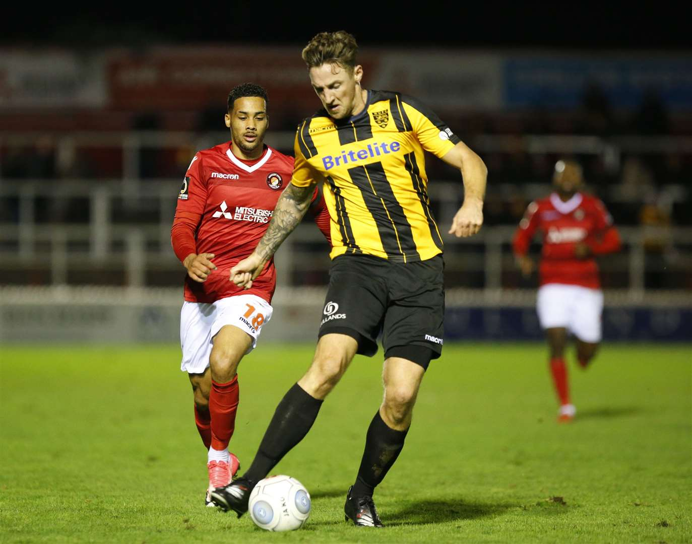 Rob Swaine's Maidstone debut at Ebbsfleet Picture: Andy Jones