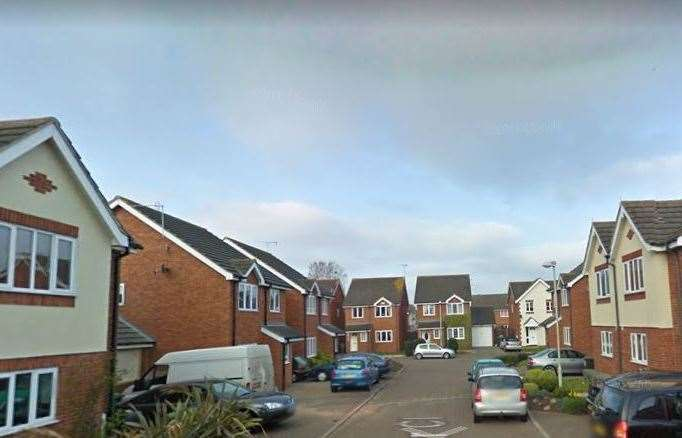 The fire happened at a property in Oyster Close, Herne Bay. Pic: Google Street View (9741599)