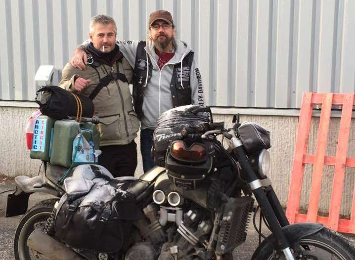 Steven during his V-Max to the Arctic Circle adventure in December 2014