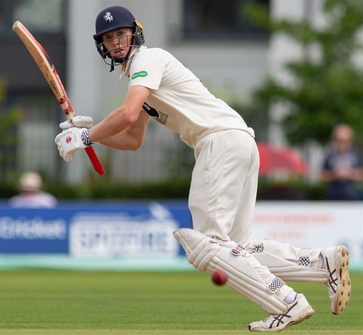 Kent's Zak Crawley made his England debut at the age of 21 against New Zealand. Picture: Ady Kerry