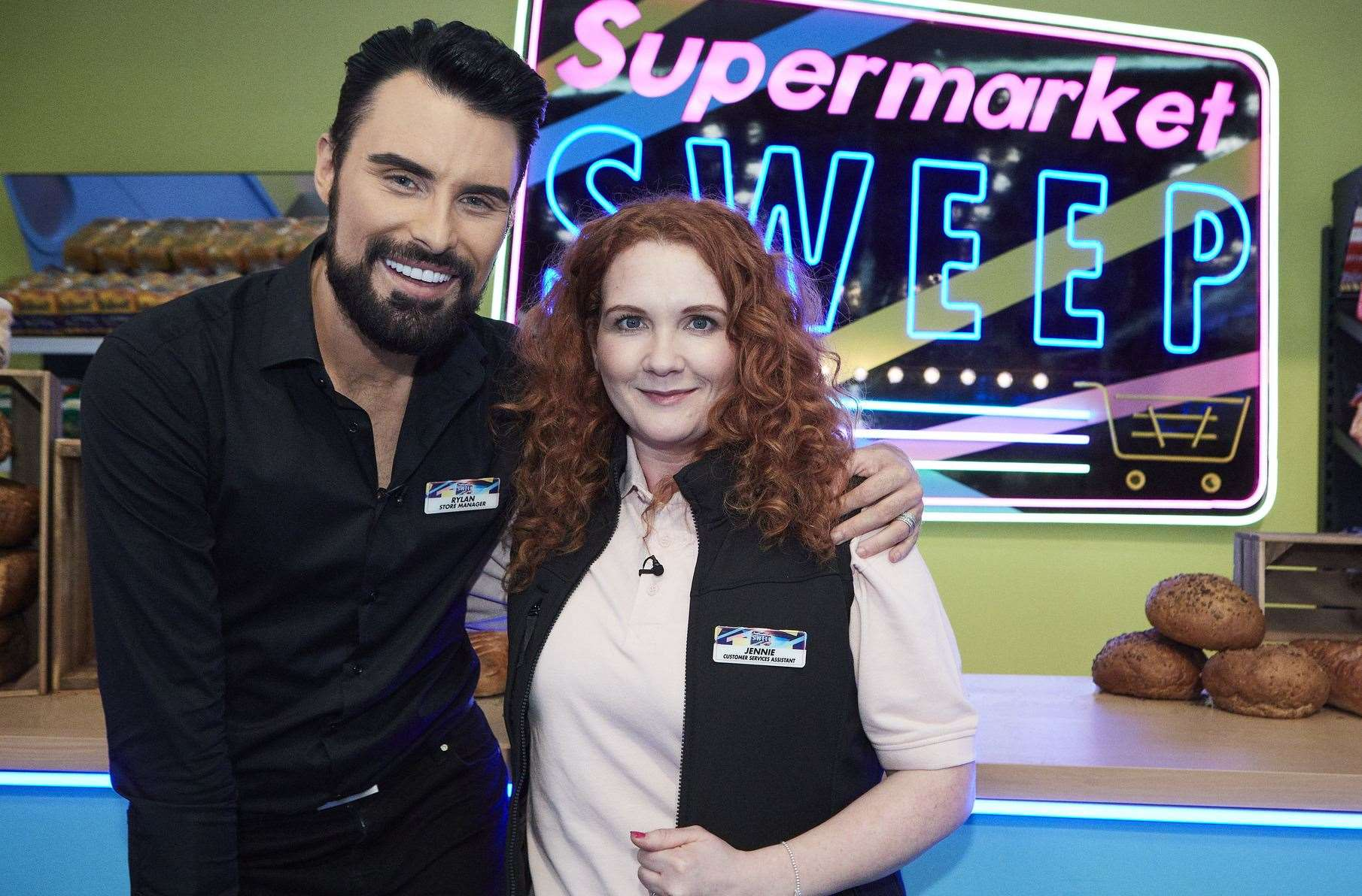 Rylan Clark-Neal will be joined by Coronation Street's Jenni McAlpine on Supermarket Sweep. Picture: Matt_Frost