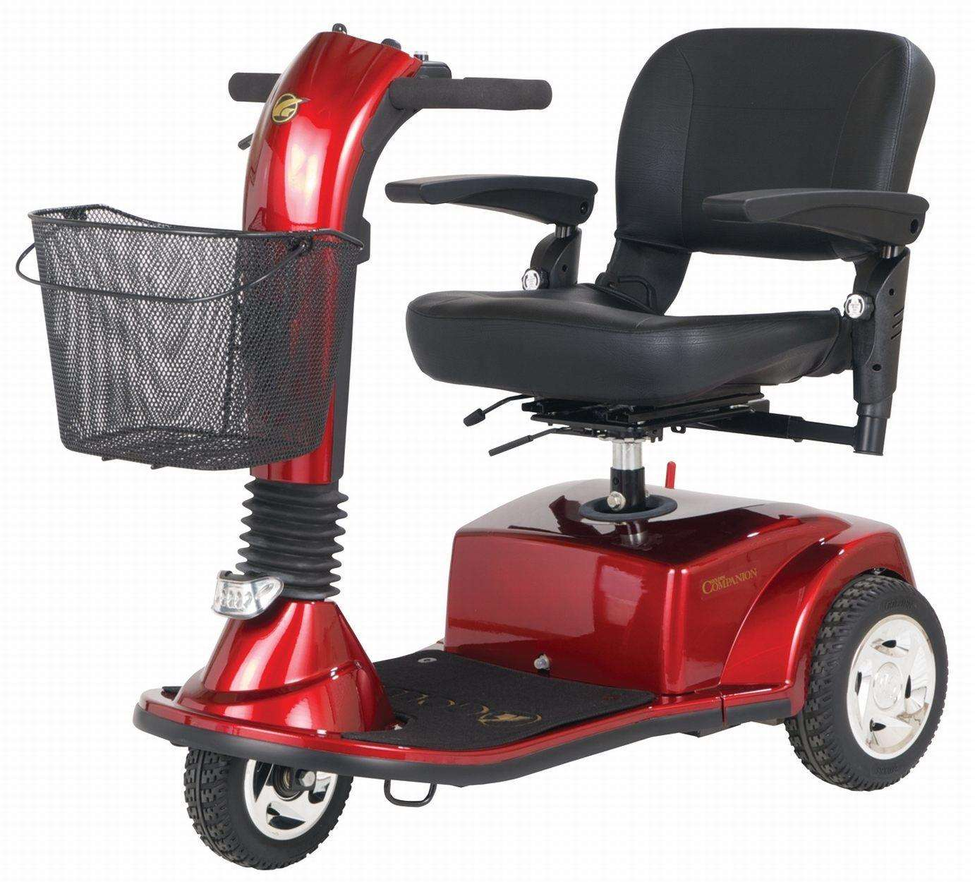 Red mobility scooter. Picture: Zdlpwebb Creative Commons Wikimedia (6722718)