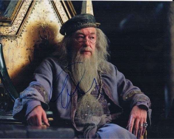 Michael Gambon autographs are a little easier on the pocket