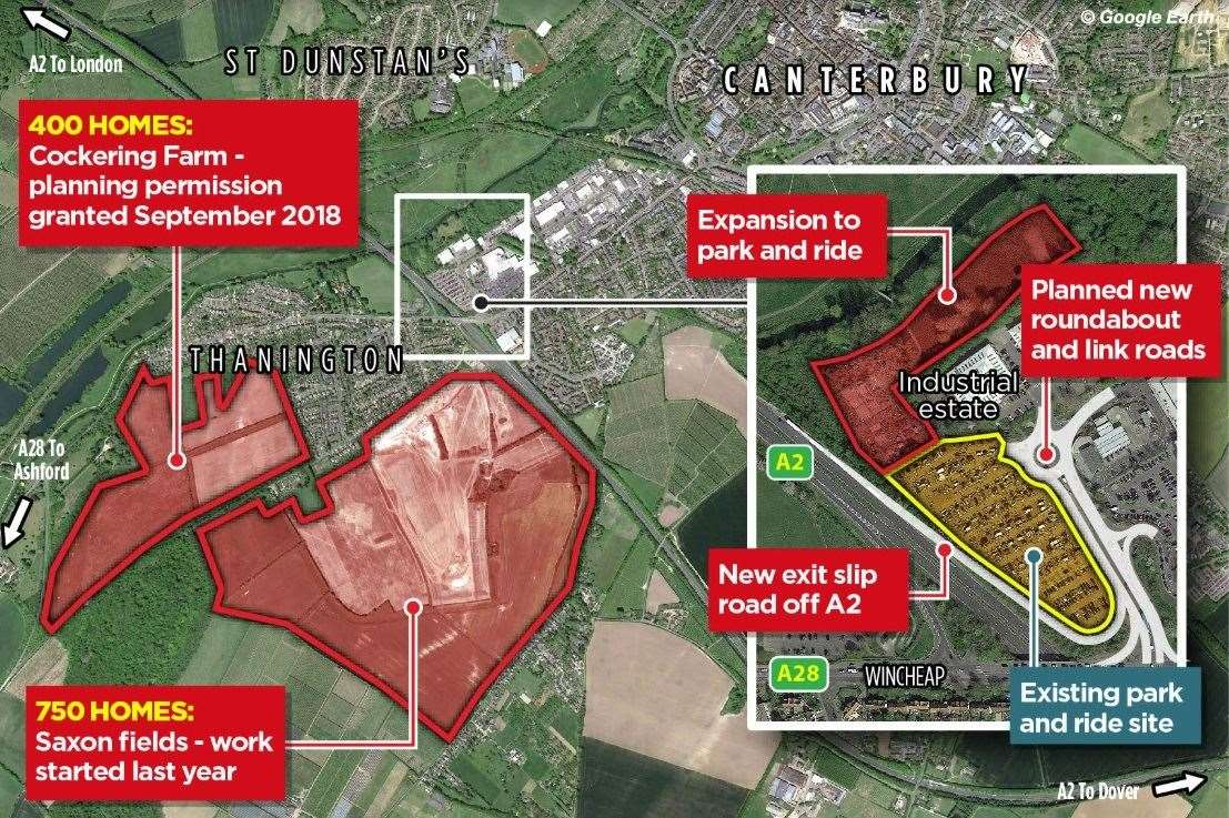 How Thanington will be expanded and the scheme for Wincheap
