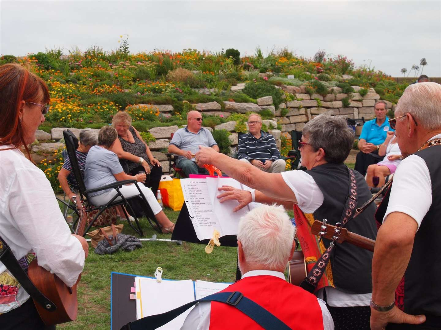 Sandown Community Garden Group relies on fundraising like this picnic in 2017