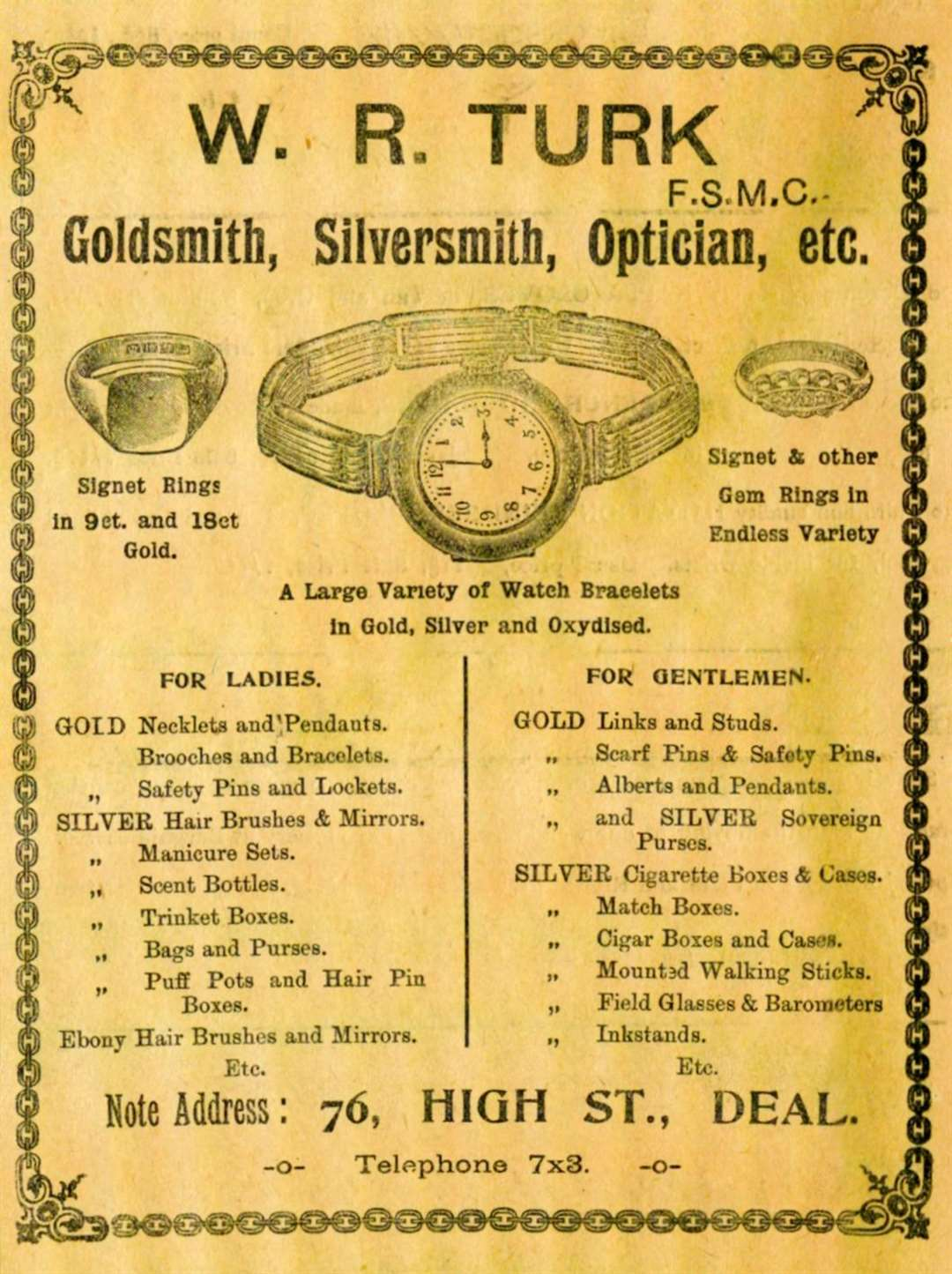 This advertisement appeared in January 1915