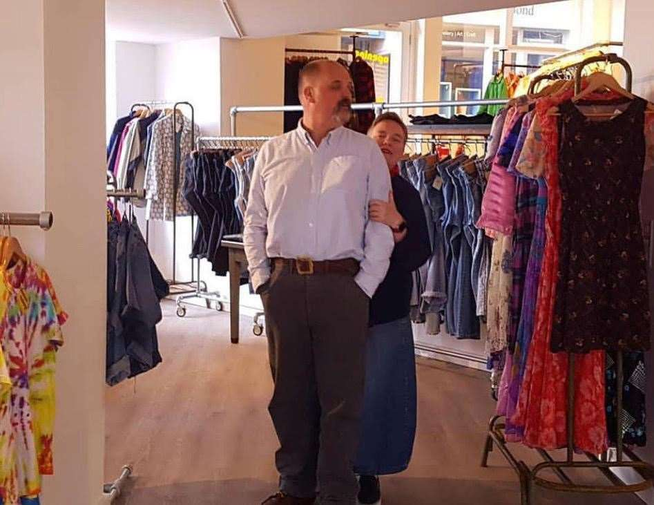 Rachel and Saul at their Folkestone store. Pic: Rachel and Saul Kitchen (10272992)