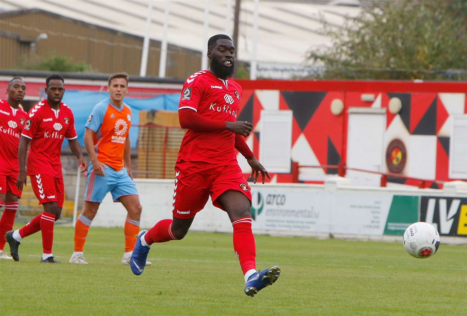 Ayo Obileye scored for Ebbsfleet against Dover on Tuesday Picture: Andy Jones