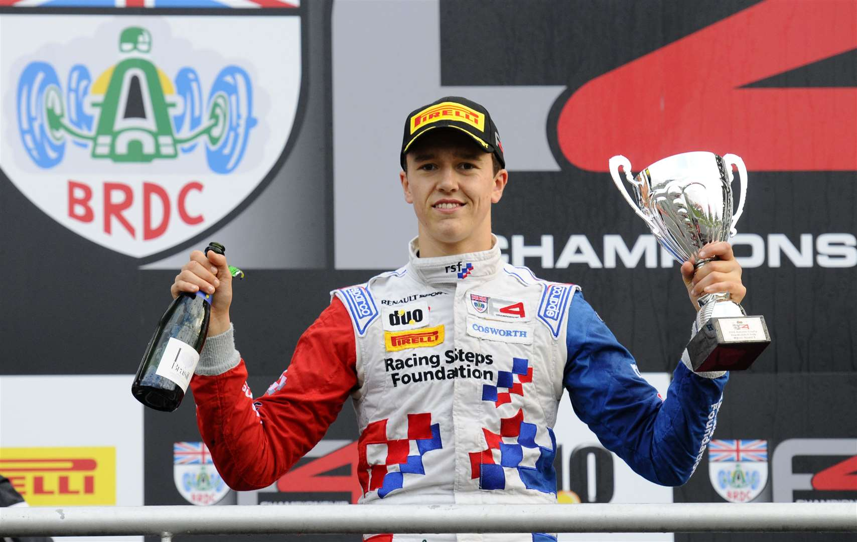 Barnicoat, driving for Fortec Motorsport, claimed the BRDC Formula 4 Autumn Trophy championship win at Brands Hatch in 2015. Picture: Simon Hildrew