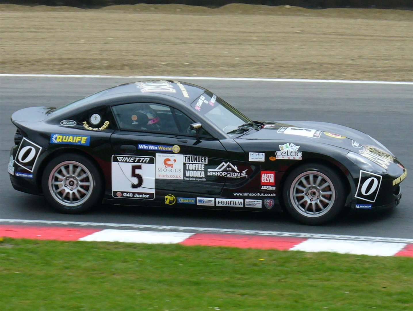 Hill, pictured here in 2010, started his circuit racing career in Ginetta Juniors with Derbyshire-based Tollbar Racing. Picture: Vic Wright
