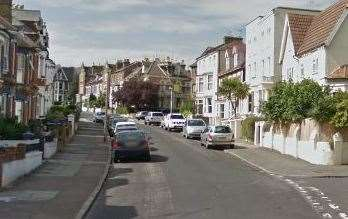 A woman was dragged into a car in Crescent Road in Ramsgate. Picture: Google