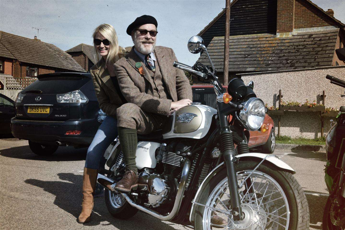 Vic Reeves and wife Nancy Sorrell