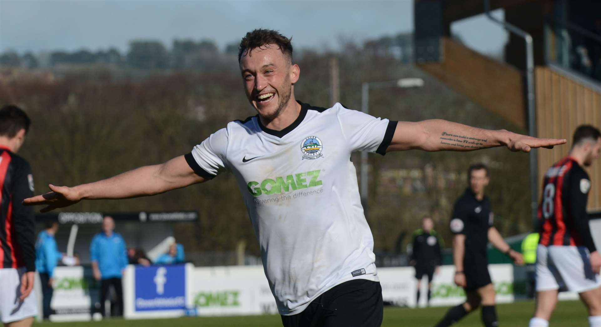 Ricky Miller and his Dover teammates will meet Solihull on August 21.  Photo: Gary Browne