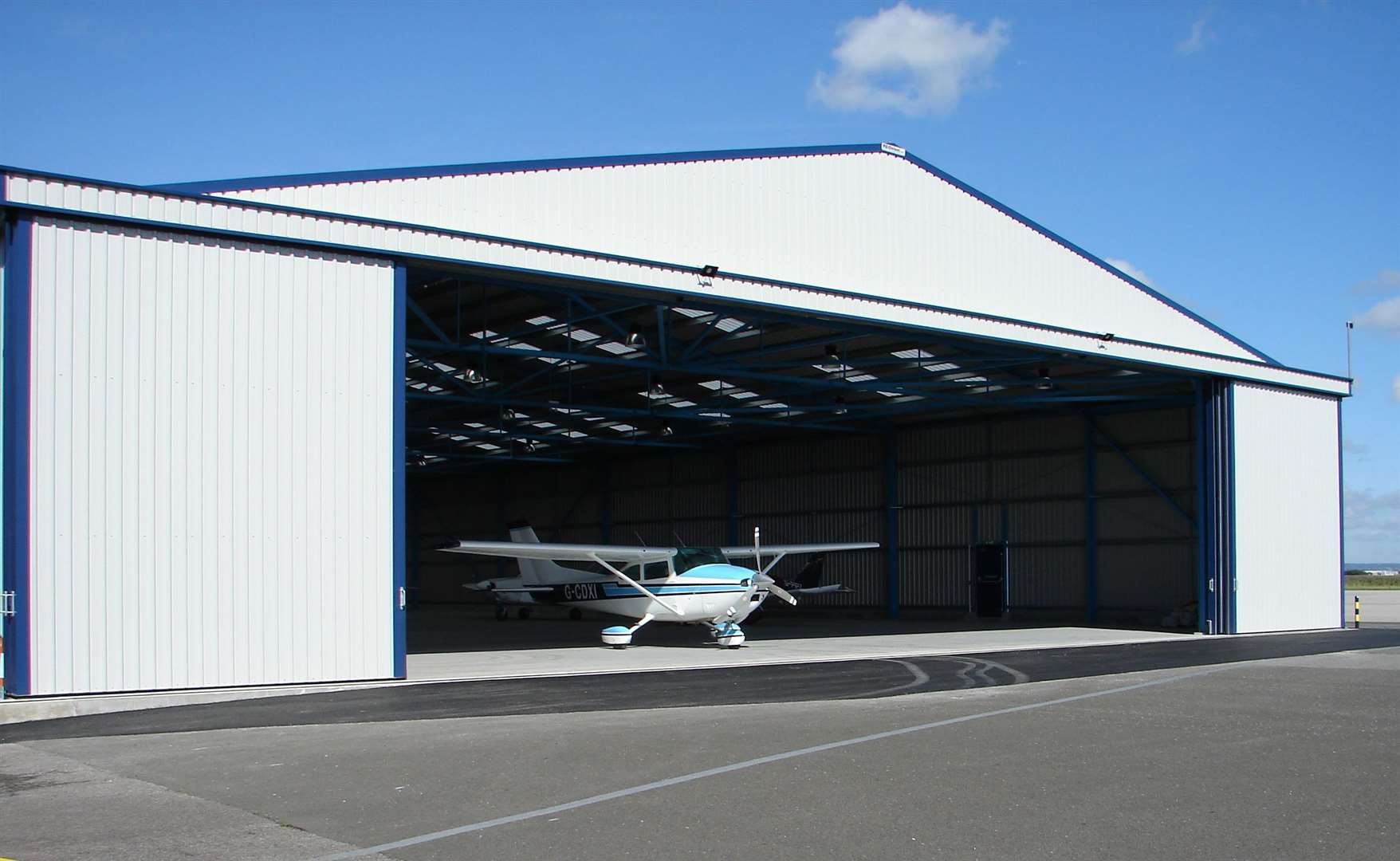 The new airport hanger will host one of the four stages. Picture: Lydd Airport