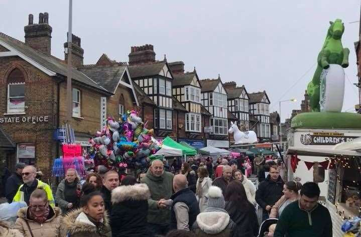The Westgate Christmas fair and switch-on regularly attracts hundreds of people (21914982)