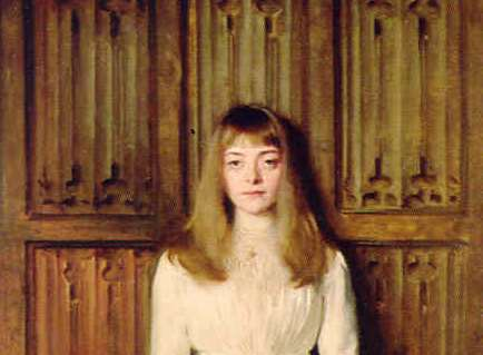 Young Lady in White by John Singer Sargent was painted at Ightham Mote Picture: National Trust
