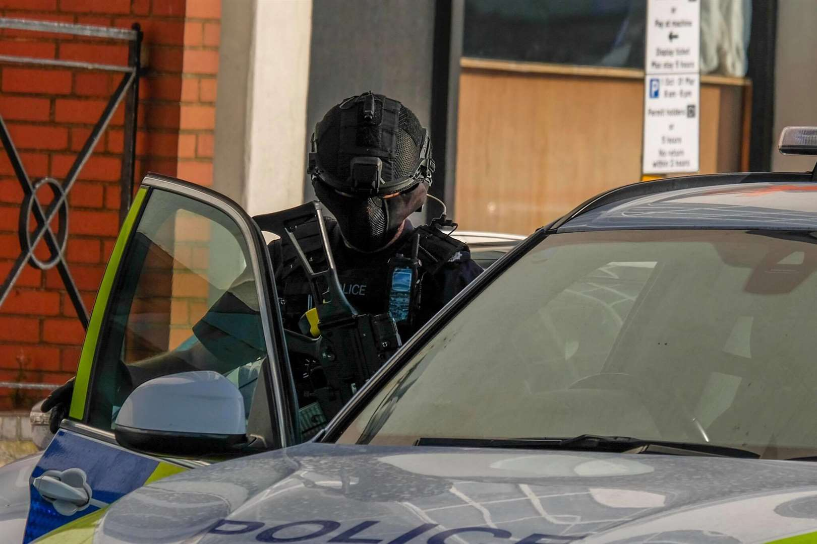 Firearms officers at the scene Picture: Dan Desborough (4916326)