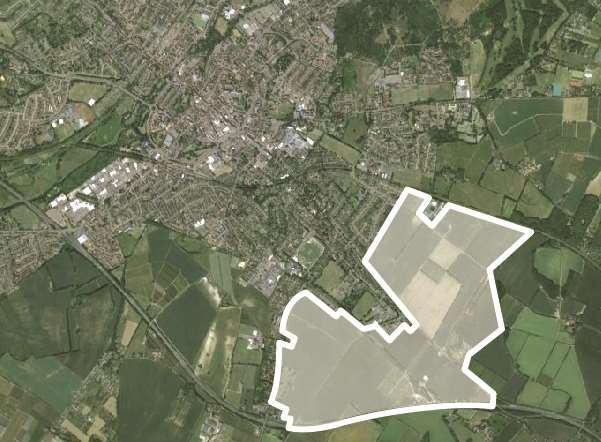 Scheme would be four times the size of the historic city centre