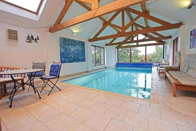 The indoor swimming pool. Picture: Zoopla / Harrisons Residential