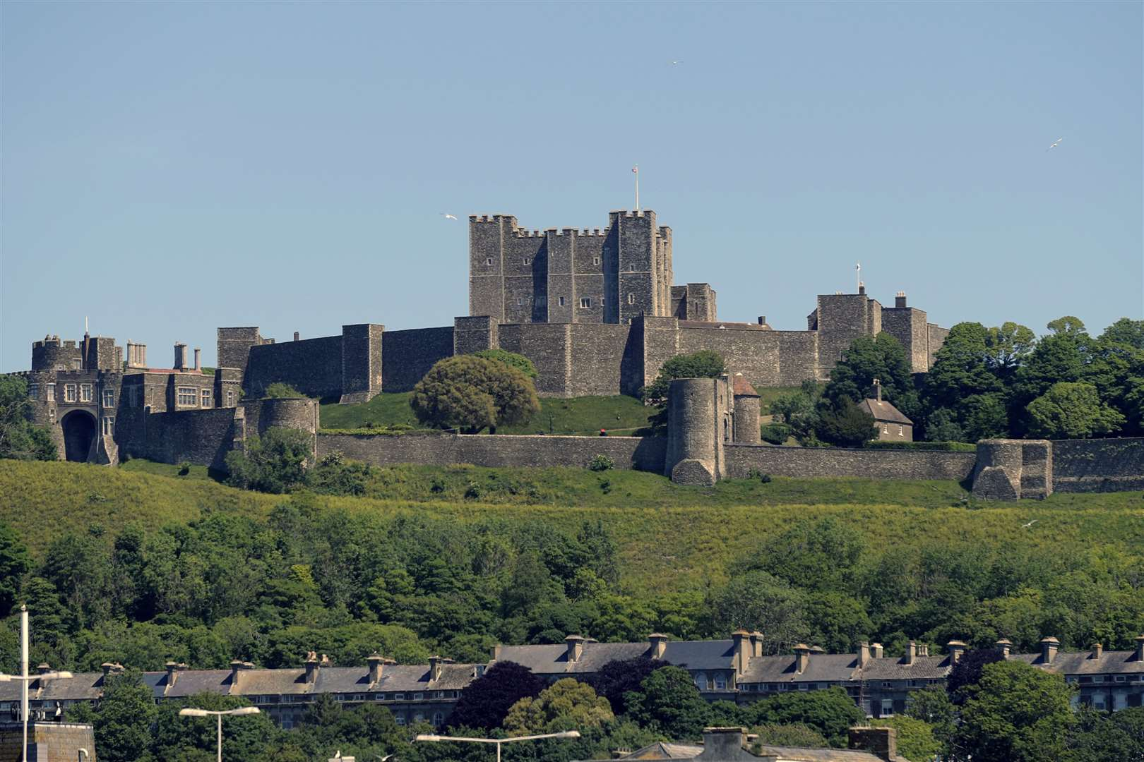 Dover Castle may be a touch bigger - but officers from its garrison are thought to have lived in the house