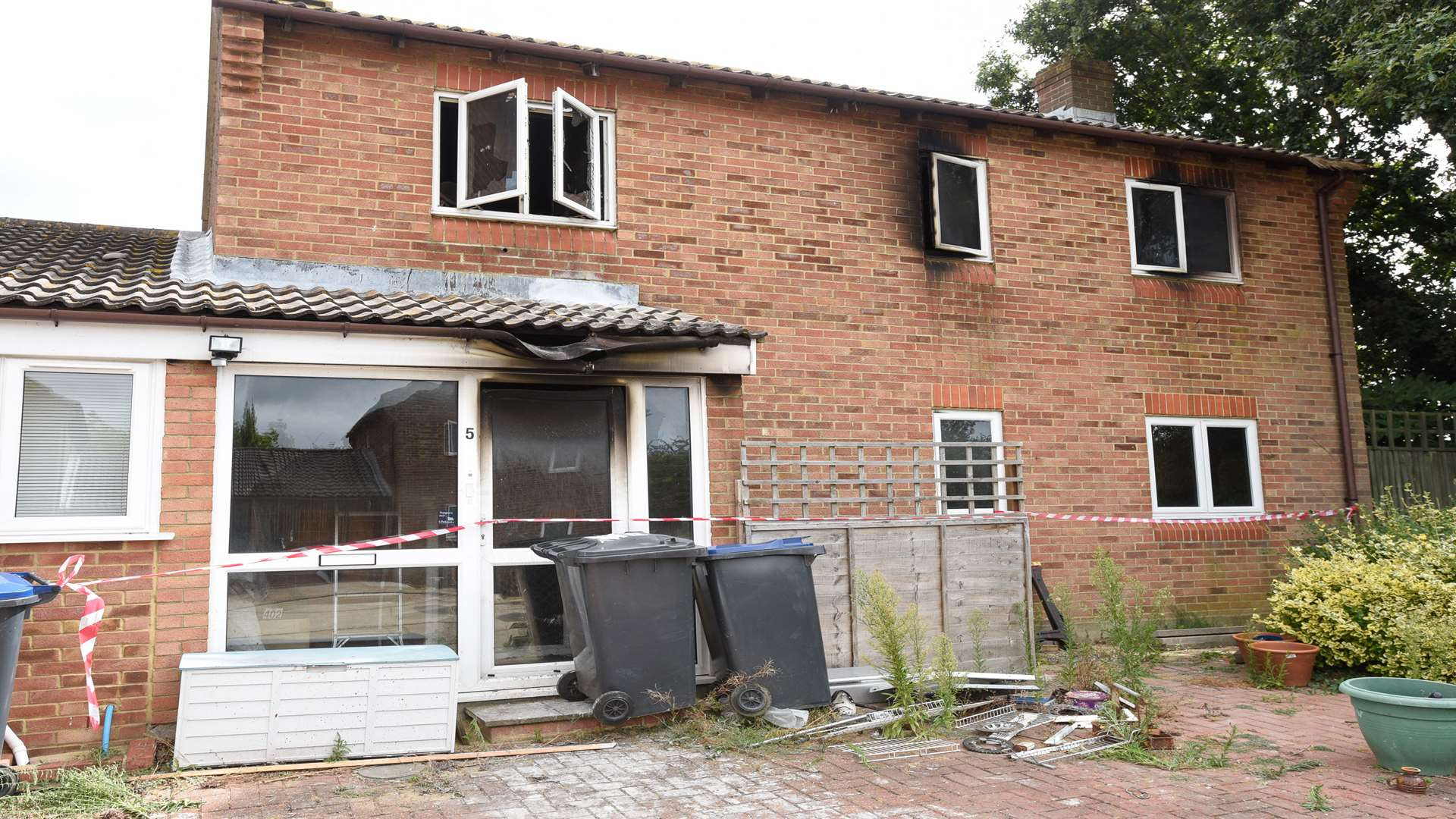 The house was left severely damaged after a fire