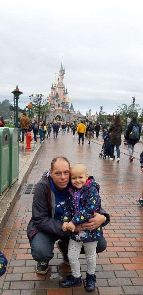 Bethany and dad Robin at Disneyland Paris last autumn. Facebook picture used with the permission of the Chesterton family