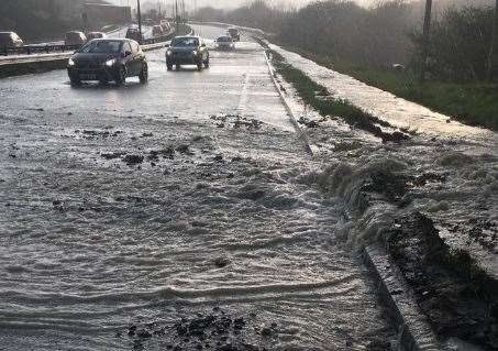 The A249 after the main burst