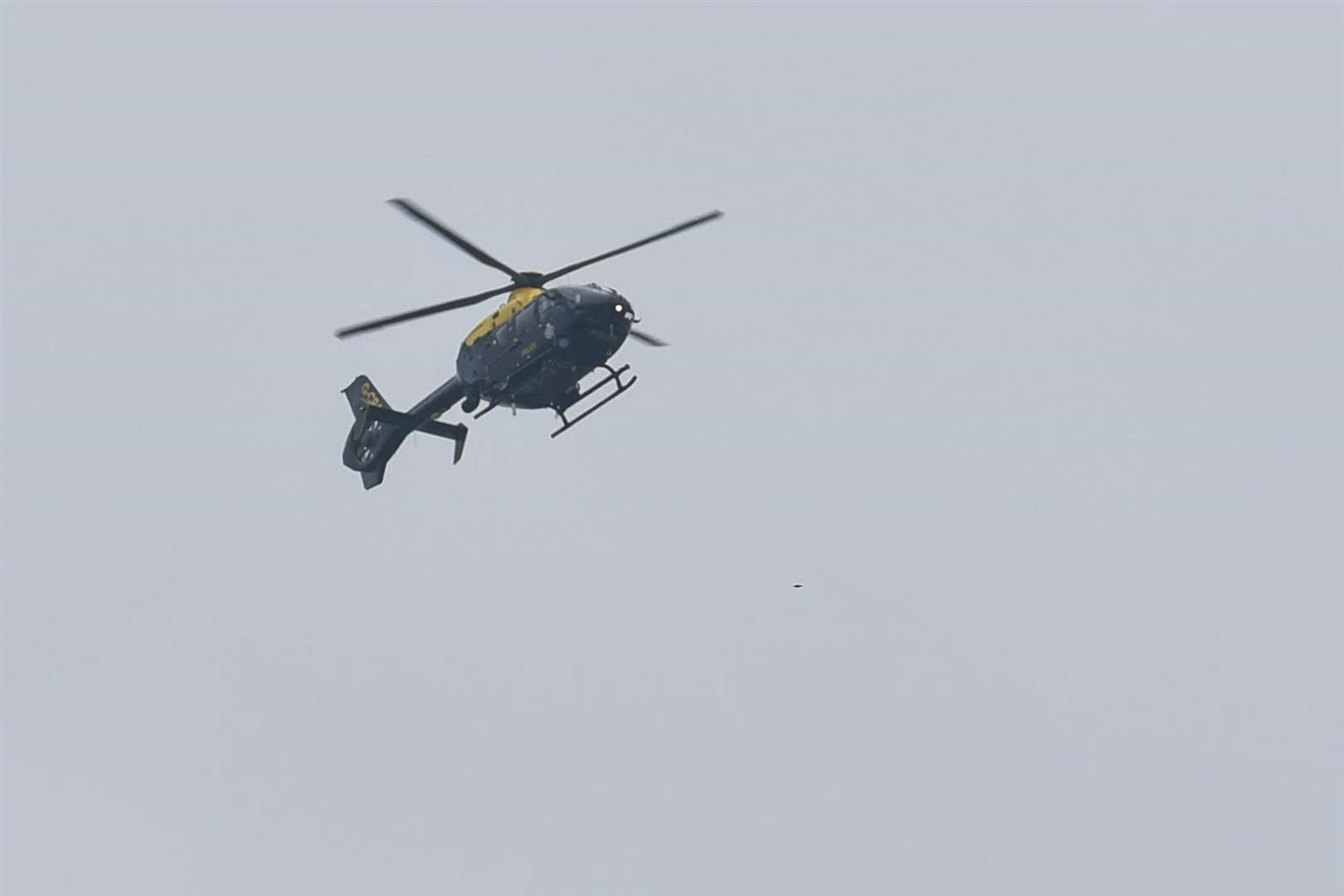 The police helicopter circled above Bapchild in the early hours. Stock picture