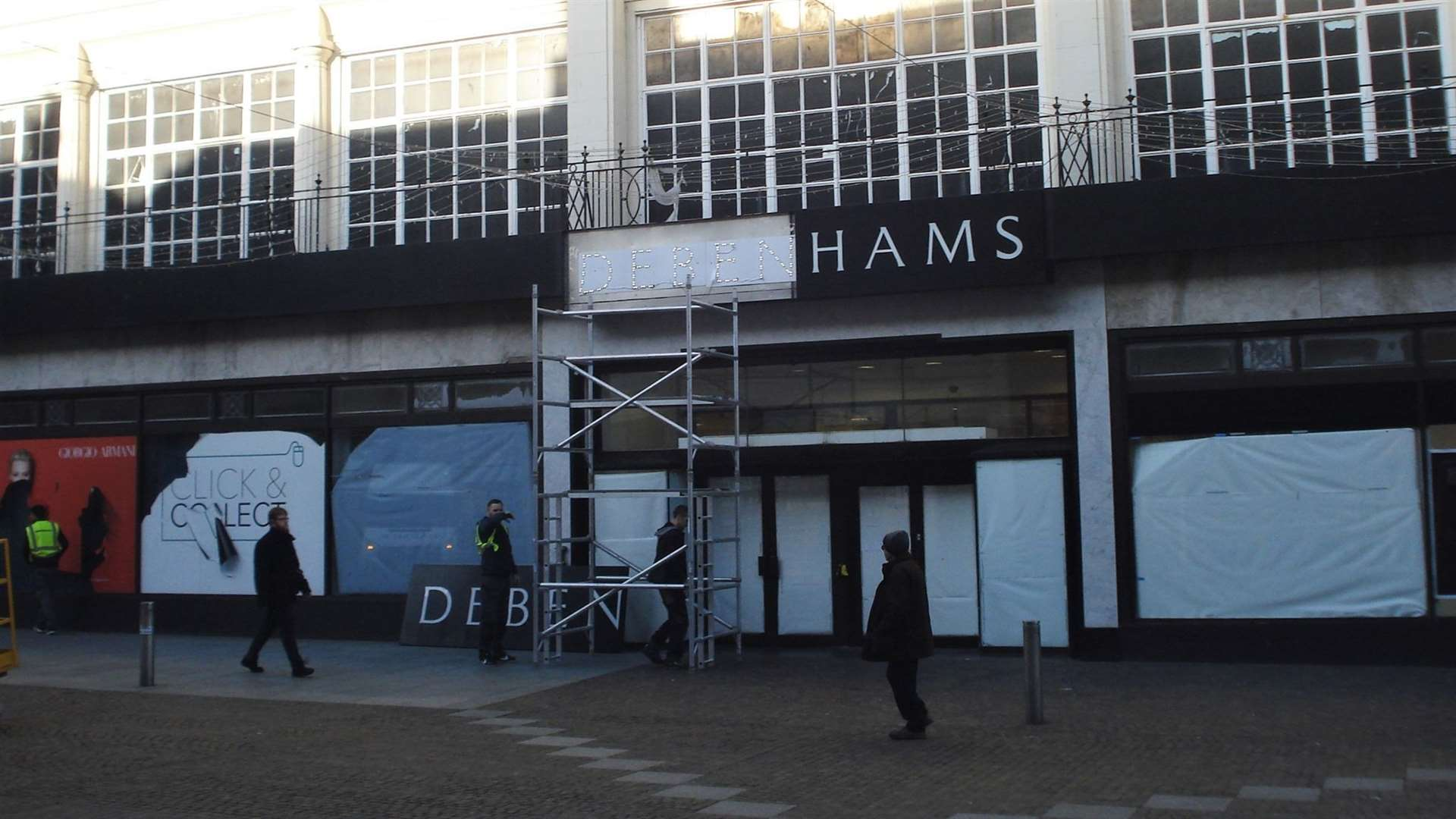 The sign was removed this morning. Picture credit: Legends of Folkestone
