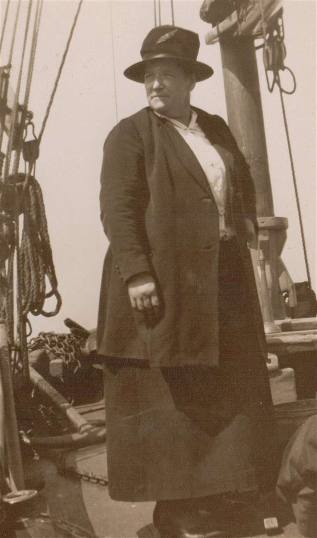 She was very much a family boat. This is Bill's grandmother Eileen on board