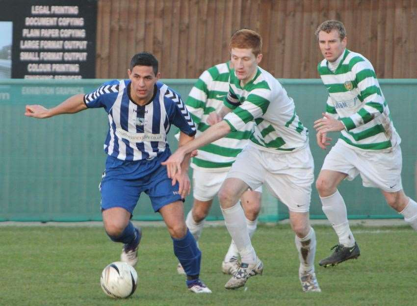 Action from Herne Bay's match against VCD in January 2012 Picture: Tony Day