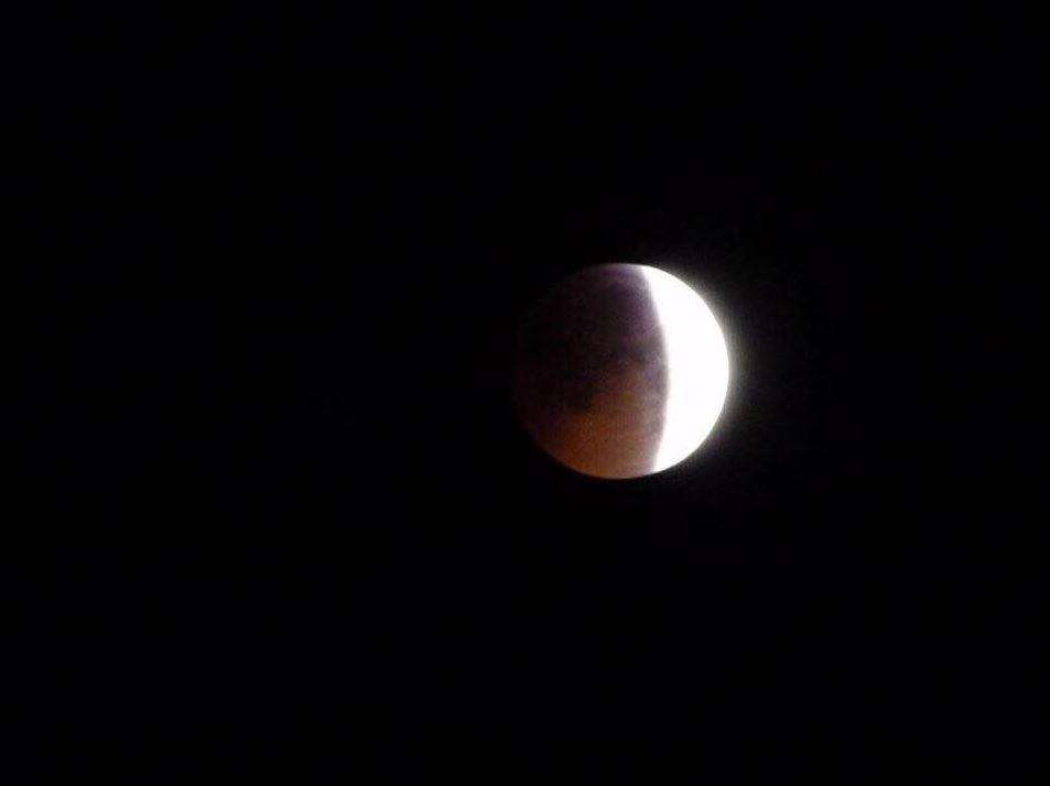 Dean Burden snapped this picture of the eclipse over Eastwell in Ashford at 4am today (6626902)