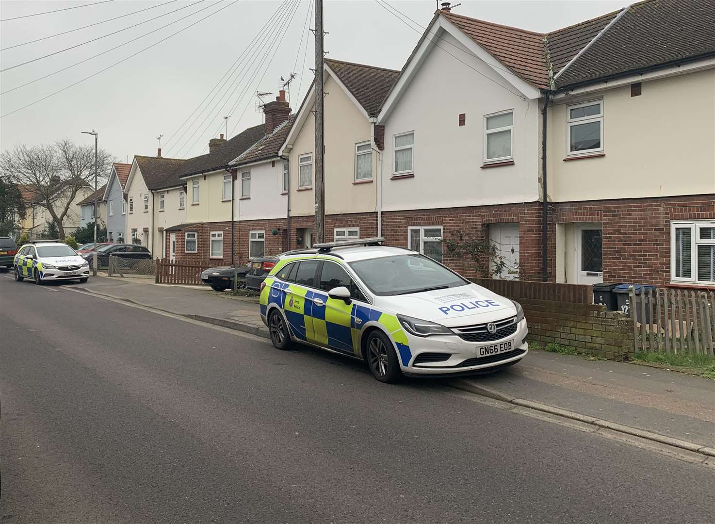 Police were at the scene in Mill Road, Deal and forensics investigators were reported to have attended